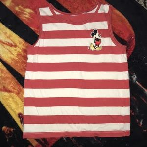 Disney 4T tank top Mickey red and white 💕